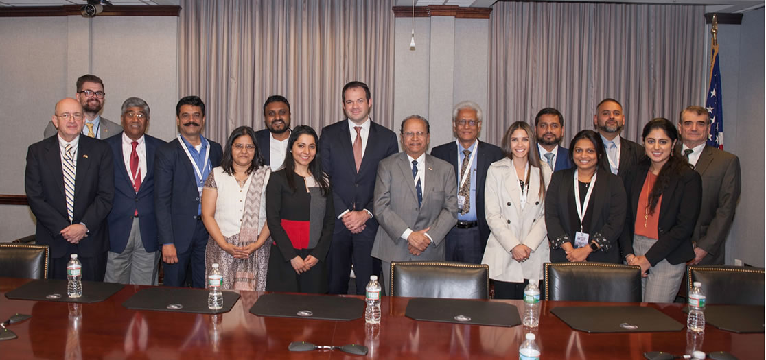 Mr. Eric Chewning, Deputy Assistant Secretary of Defense, Industrial Policy, Department of Defense with FICCI Defence Industry Delegation